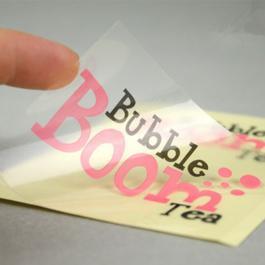 Adesivo e Rótulos em Vinil Transparente Adesivo Vinil BOPP - Transparente  4x0 - Frente Colorido  Corte Reto