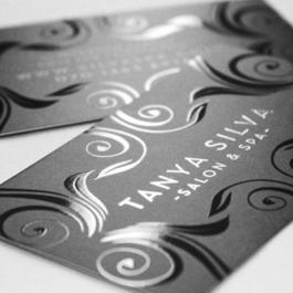 Cartão de Visita com Verniz Localizado Couchê 300g 9x5cm 4x4 - Frente/Verso Colorido Vinil Localizado Frente e Verso Corte Reto