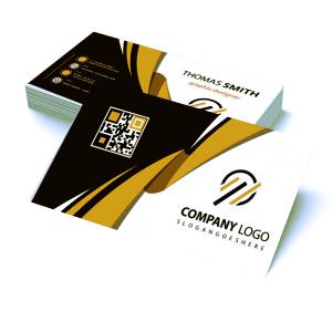 Cartão de Visita Tradicional - Frente e Verso Couchê 300g 9x5cm 4x4 - Frente e Verso Colorido Vinil Total Frente Corte Reto