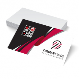 Cartão de Visita Rápido Couchê 250g 9x5cm 4x0 - Frente Colorido sem Verniz Corte Reto