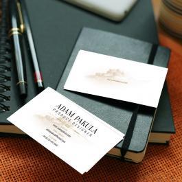 Cartão de Visita Tradicional Couchê 300g 9x5cm 4x0 - Frente Colorido Vinil Frente Corte Reto