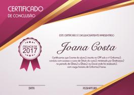 Certificados Couche 250g 20x28cm 4x0 - Frente Colorido sem Verniz Corte Reto Impressão Laser colorido