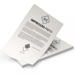 Imprimir Preto/branco Sulfite 75g A4 (21x29,7cm) Preto e Branco