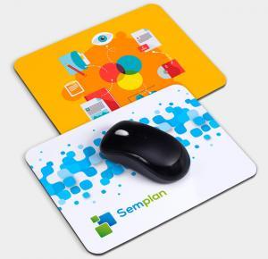 Mouse Pad Personalizado borracha anti-aderente e superfície em tecido 100% poliéster 20x18cm 4x0 - Frente Colorido   Estampa colorida por sublimação
