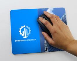 Mouse Pad Personalizado borracha anti-aderente e superfície em tecido 100% poliéster 20x18cm 4x0 - Frente Colorido