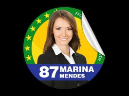 Adesivo Eleitoral - Praguinha Adesivo 85g  4x0 - Frente Colorido   EMITIMOS NOTA